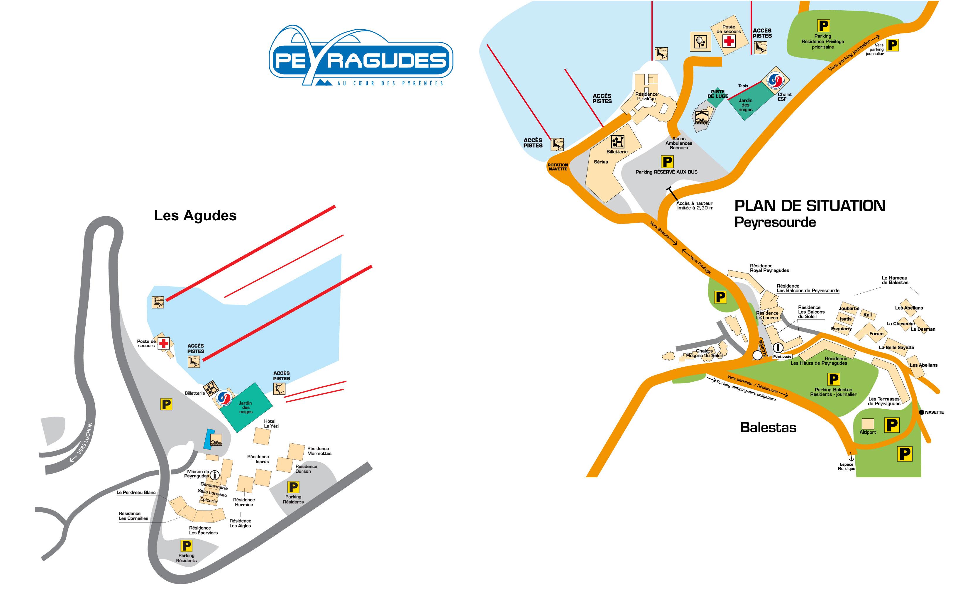 Plan d'accès Peyragudes