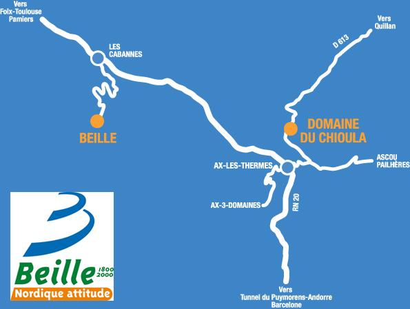 Plan d'accès Plateau de Beille