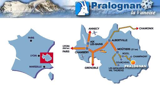 Plan d'accès Pralognan-la-Vanoise