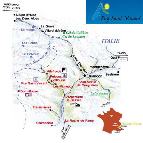 Plan d'accès Puy-Saint-Vincent