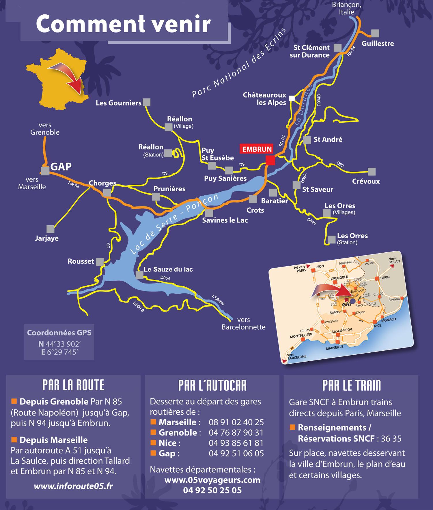 Plan d'accès Réallon
