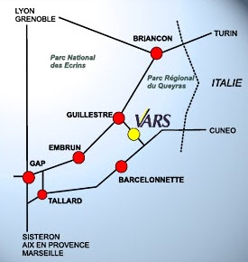 Plan d'accès Risoul