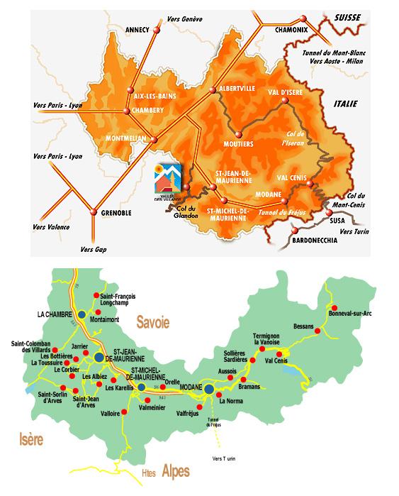 Plan d'accès Saint Colomban des Villards