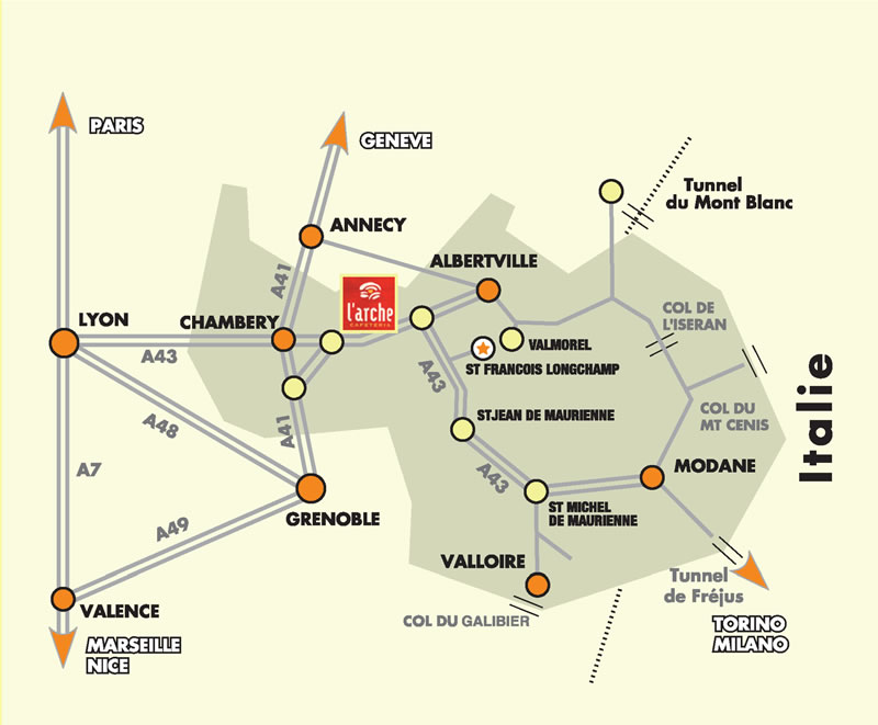 Plan d'accès Saint-François Longchamp