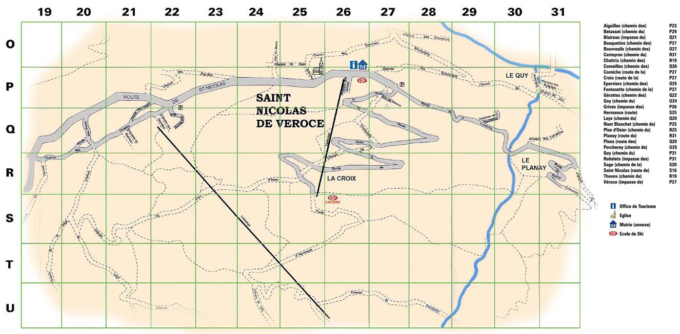 Plan d'accès Saint Gervais