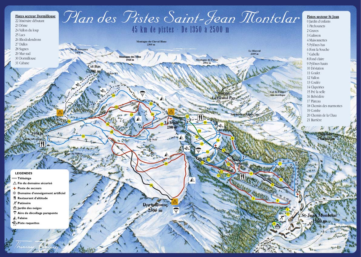 Saint jean montclar la station de ski for Piste de ski interieur