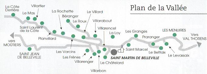 Plan d'accès Saint Martin de Belleville