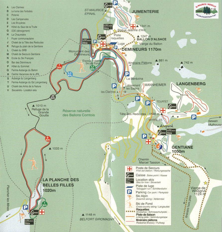 Plan d'accès Saint Maurice sur Moselle