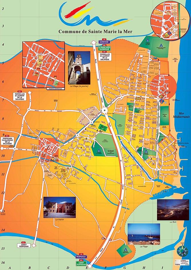Plan d'accès Sainte-Marie-la-Mer