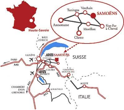 Plan d'accès Samoëns