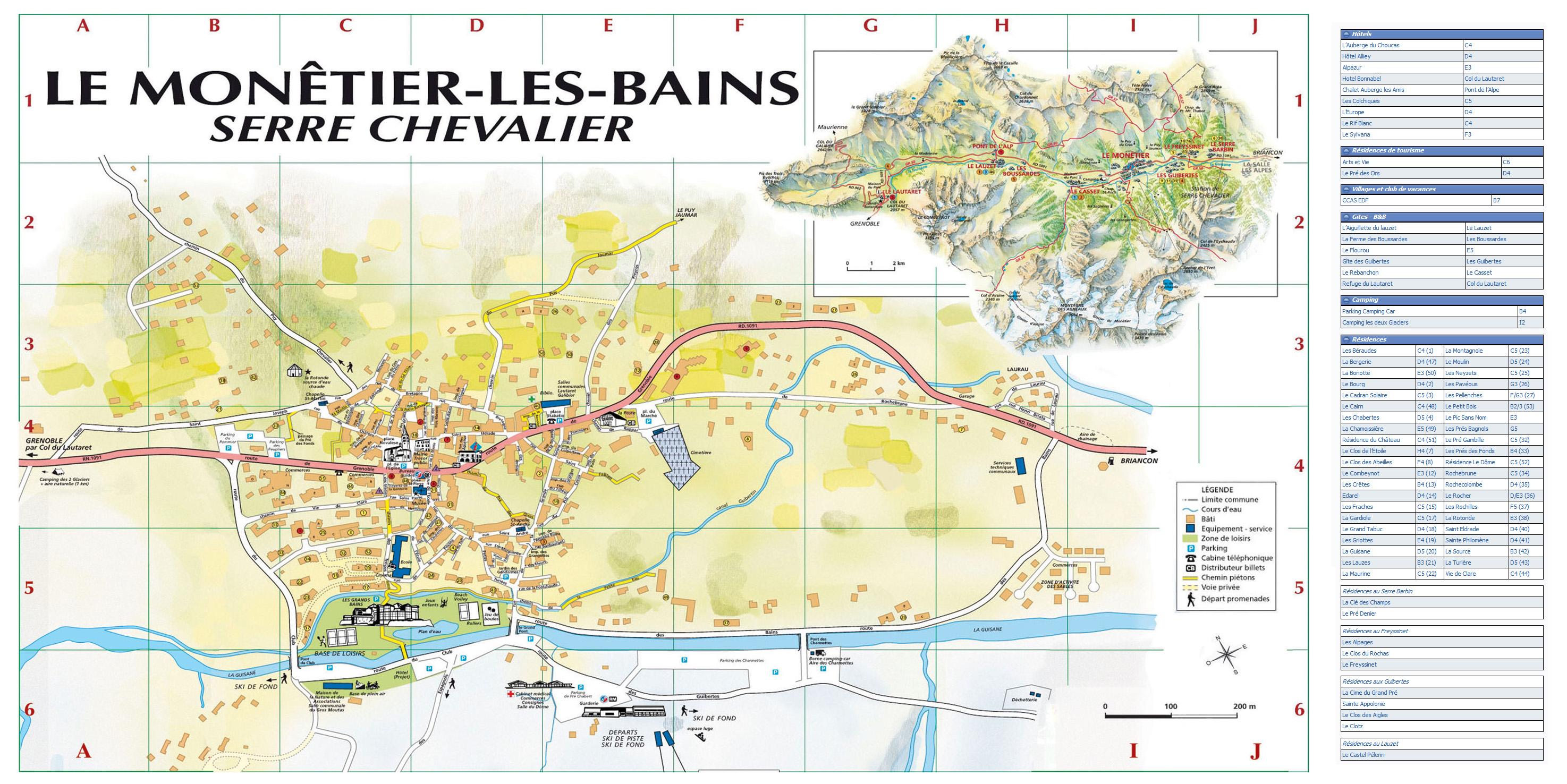 Plan d'accès Serre Chevalier