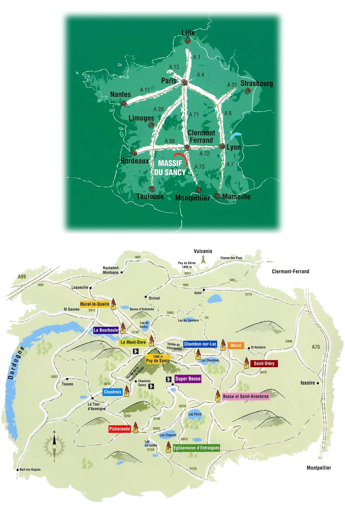 Plan d'accès Super Besse