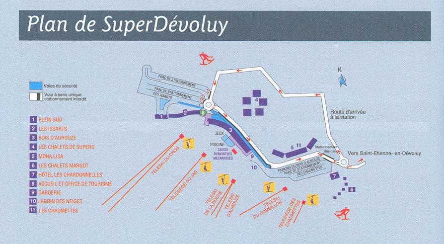 Plan d'accès Superdévoluy