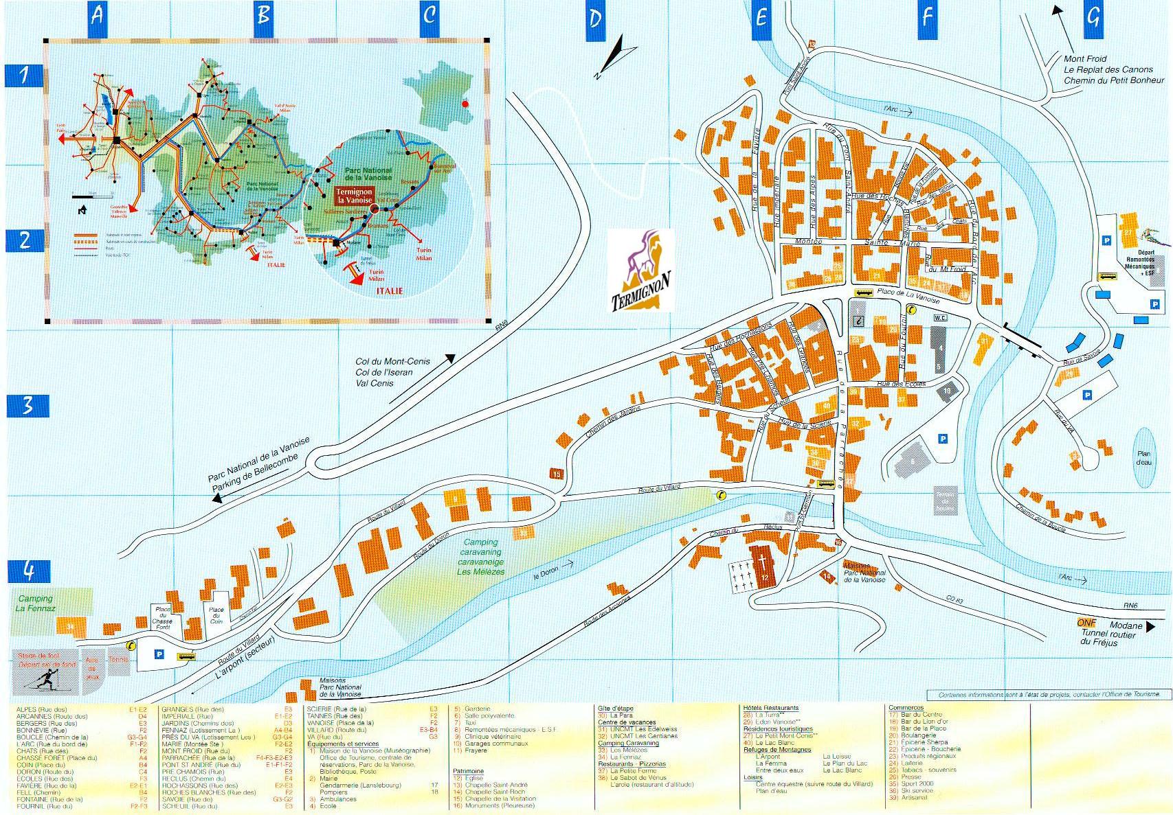 Plan d'accès Termignon-la-Vanoise