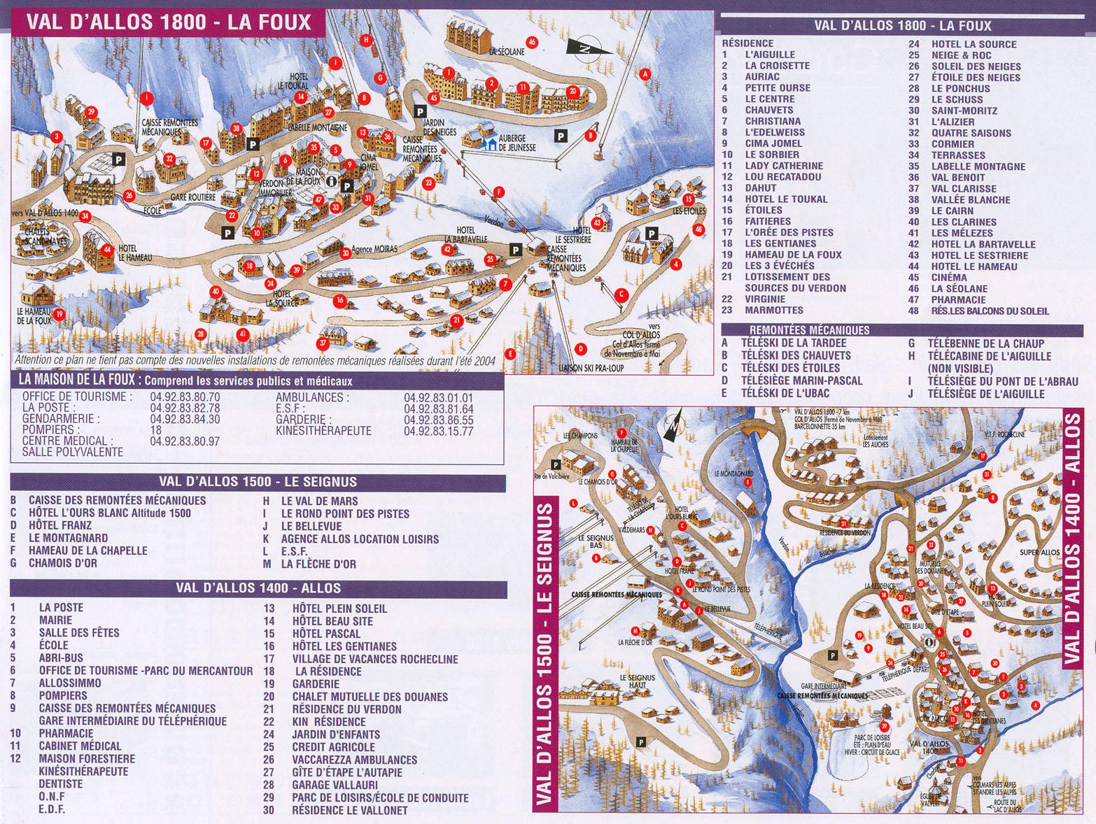 Plan d'accès Val d'Allos