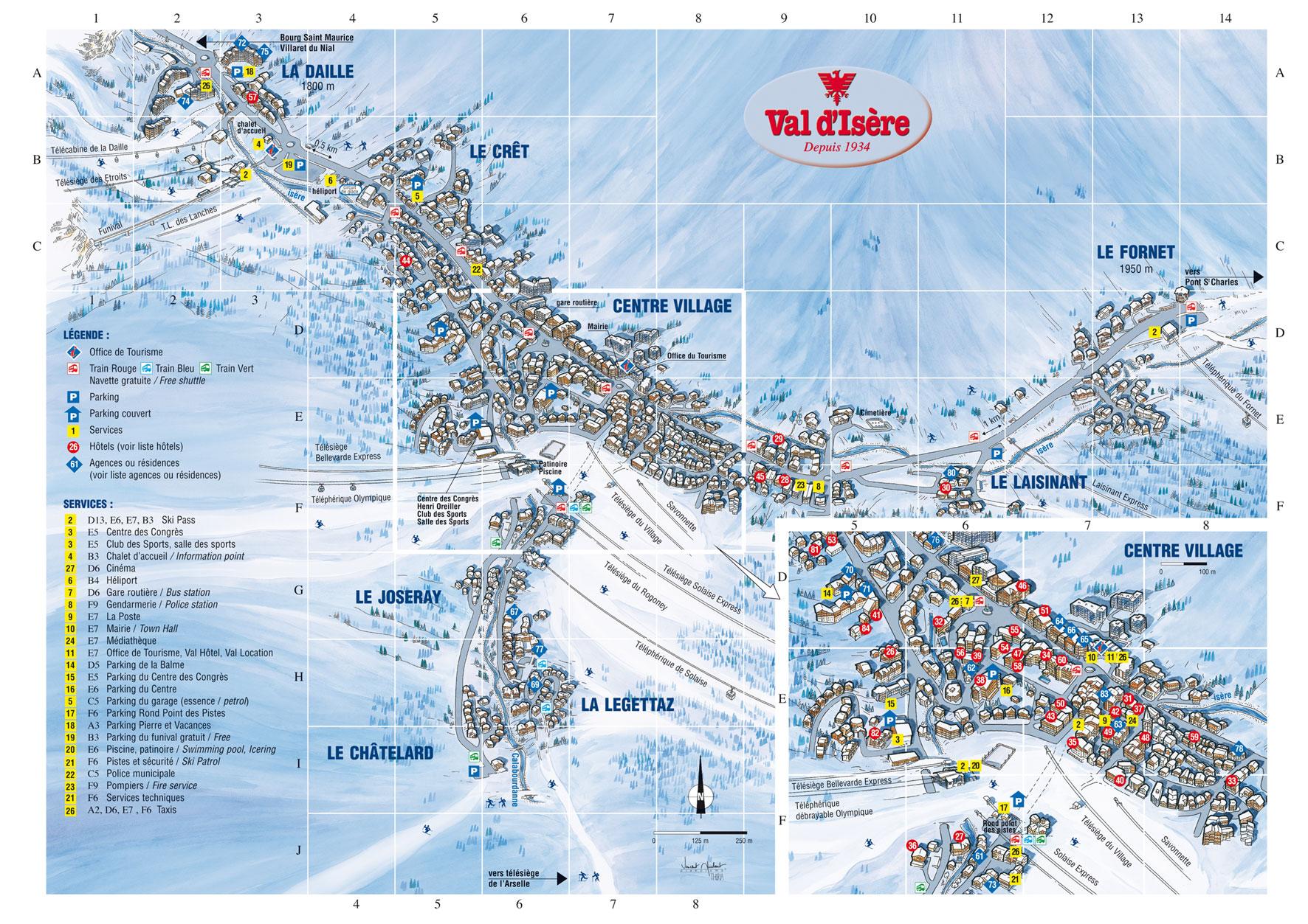 Plan d'accès Val d'Isère