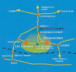Plan d'accès Val Louron