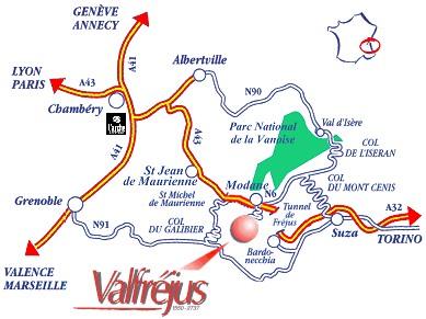 Plan d'accès Valfréjus