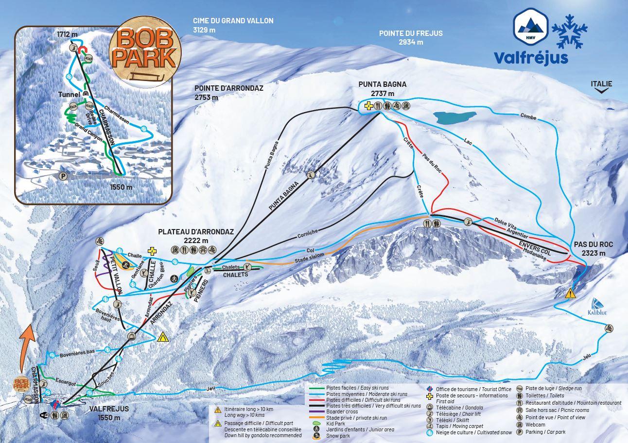Mappa delle piste da sci