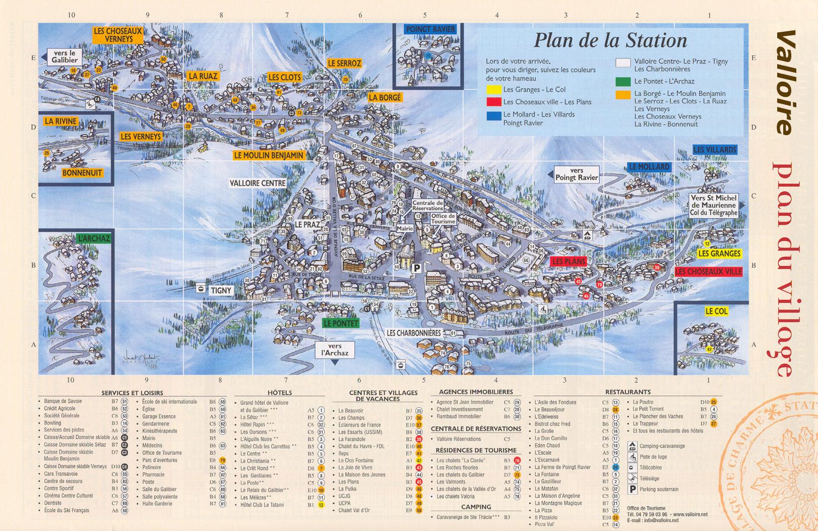 Plan d'accès Valloire