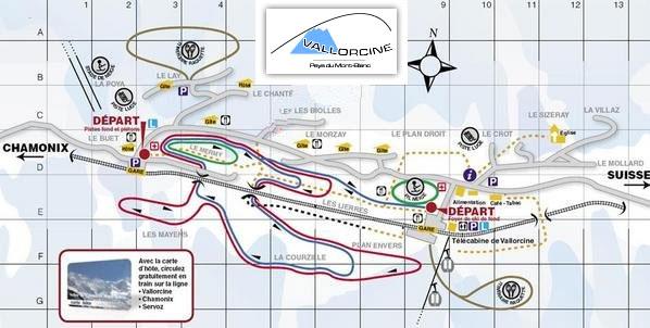 Plan d'accès Vallorcine