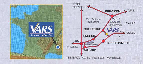 Plan d'accès Vars