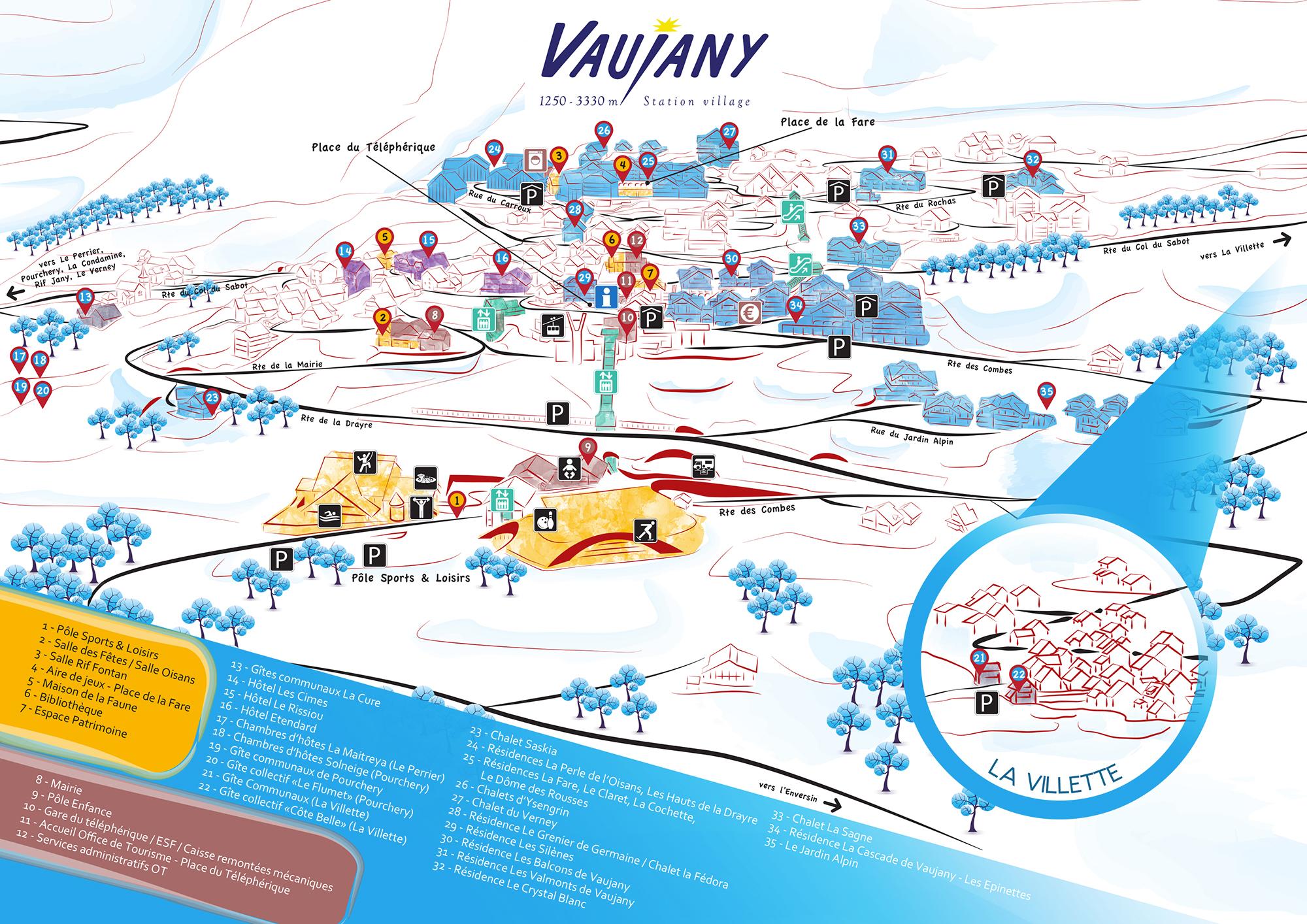Plan d'accès Vaujany