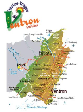 Plan d'accès Ventron