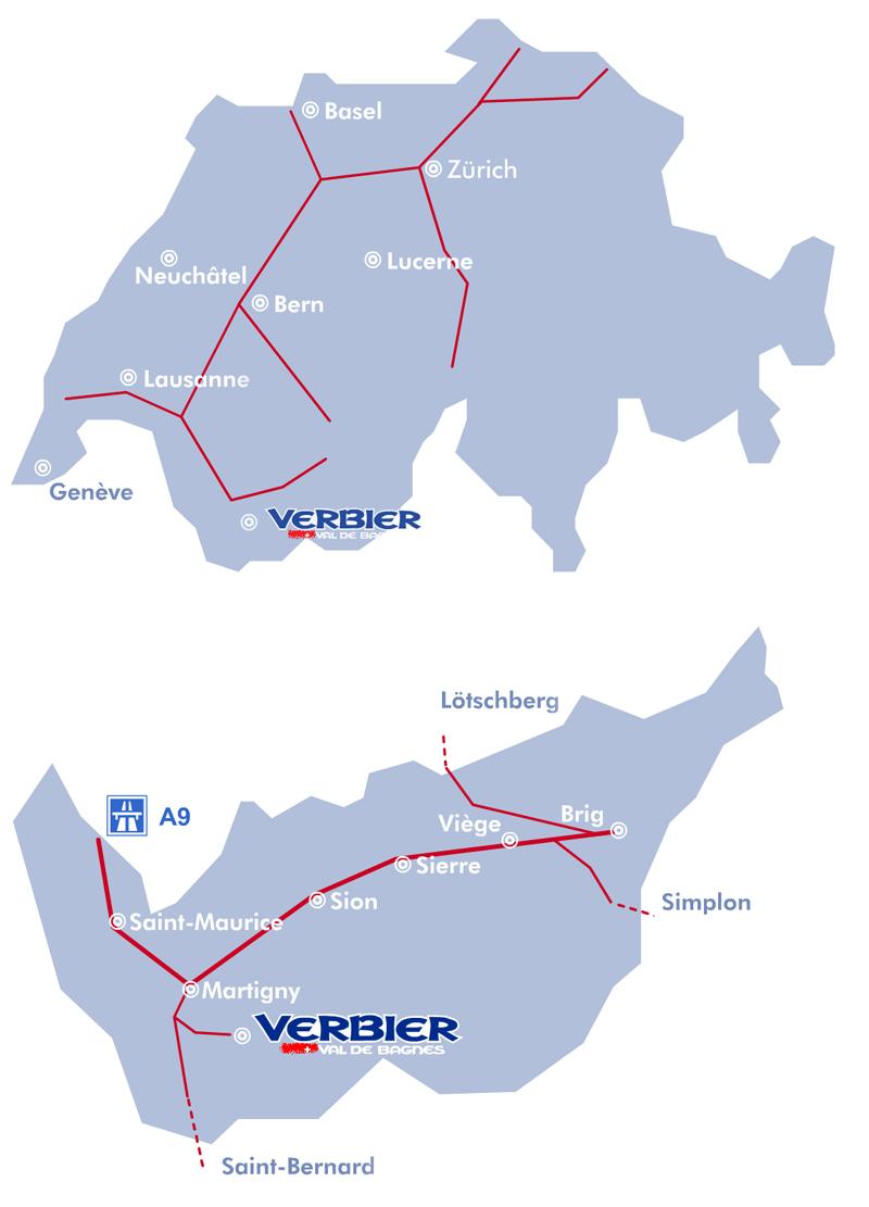 Plan d'accès Verbier